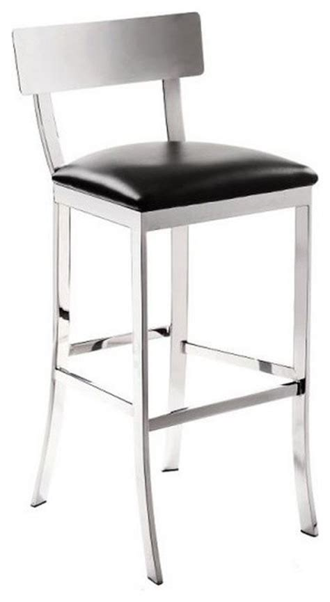 black and chrome kitchen bar stools chrome finish stool black bar height contemporary bar