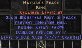 nature s peace unique rings diablo 2 lewt