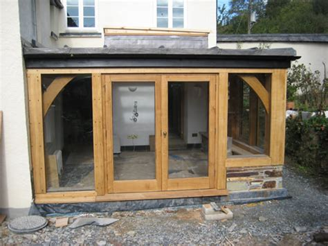Side Porch Designs by Traditional Oak Timber Frame Manufacture Devon