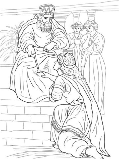 coloring pages esther queen bible 104 best images about esther on pinterest fun for kids
