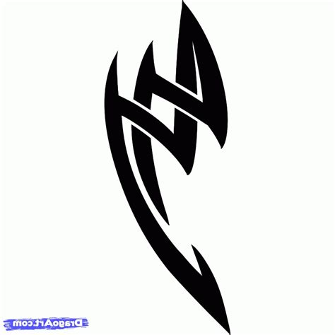 easy to draw tribal tattoos simple tribal designs best design