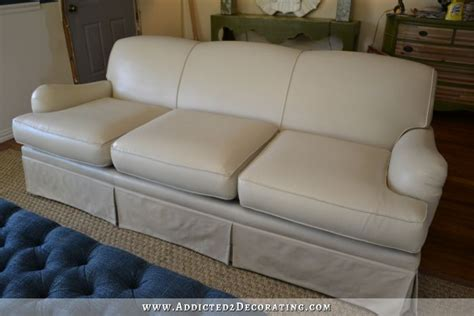 How To Paint A Leather Sofa Painted Upholstered Sofa
