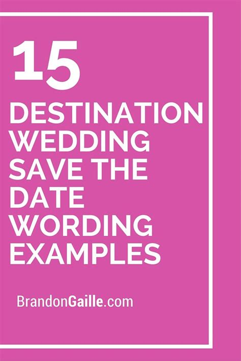 save the date wedding wording exles 15 destination wedding save the date wording exles