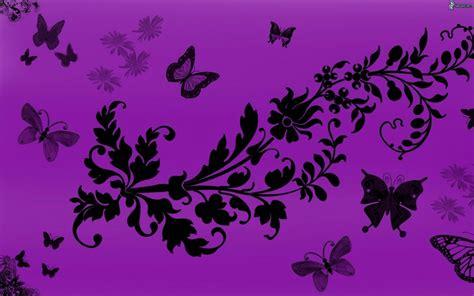 imagenes en blanco y morado flores dibujados