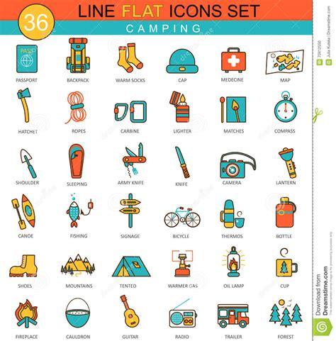 web design icon kit binocular icon set vector illustration cartoondealer