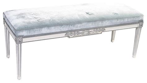 bench retail sold out louis xvi style pale blue mohair bench 2 100