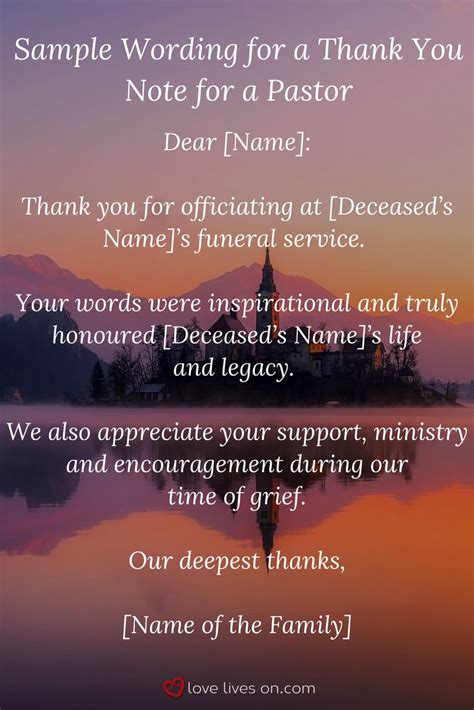 thank you letter to a pastor for funeral services 25 unique funeral thank you cards ideas on