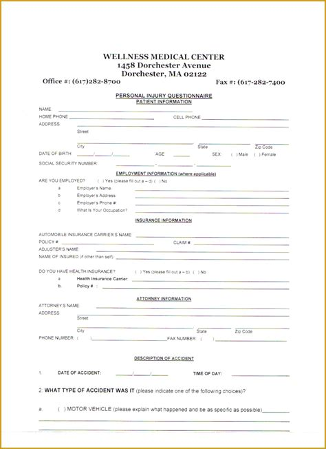 therapy intake form template 6 physical therapy intake form template fabtemplatez