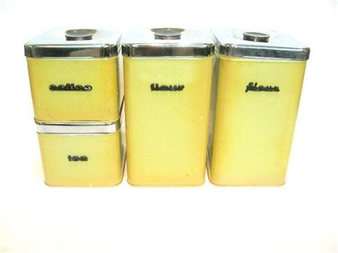 vintage kitchen canisters sets vintage kitchen canister set