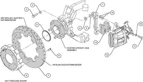 diagram of brake caliper assembly wilwood cpb rear brake kit 12 19 quot black 2006 up honda