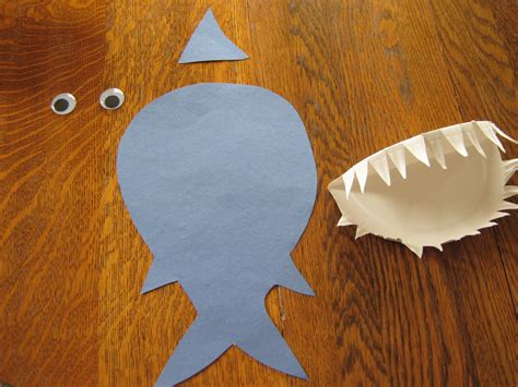 plate crafts almost unschoolers paper plate shark craft