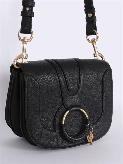 chloe hana small leather crossbody black luxury