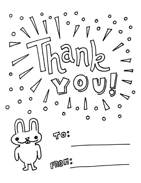 printable color in thank you cards free coloring pages of say thank you 21565