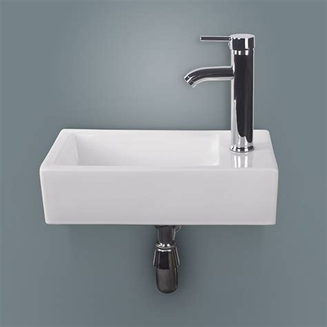 wall mounted faucet bathroom new white rectangle bathroom ceramic vessel sink bowl wall mounted chrome faucet ebay