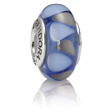 retired pandora captivating blue charm murano glass