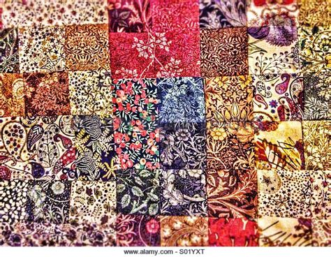 Patchwork Materials - patchwork fabric stock photos patchwork fabric stock