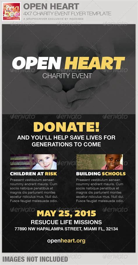 Open Heart Charity Event Flyer Template Graphicriver Graphicriver Iii Flyer Template