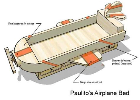 plane bed airplane bed woodworking projects plans