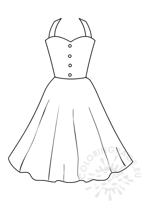coloring page of a dress coloring page girls summer dresses for women coloring page