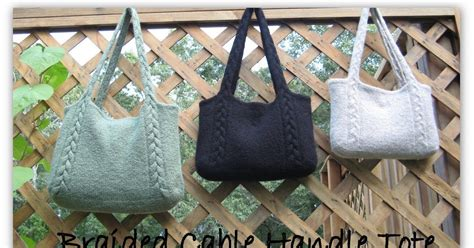 free knitting patterns for bags totes knitting in my backyarn braided cable handle tote a free