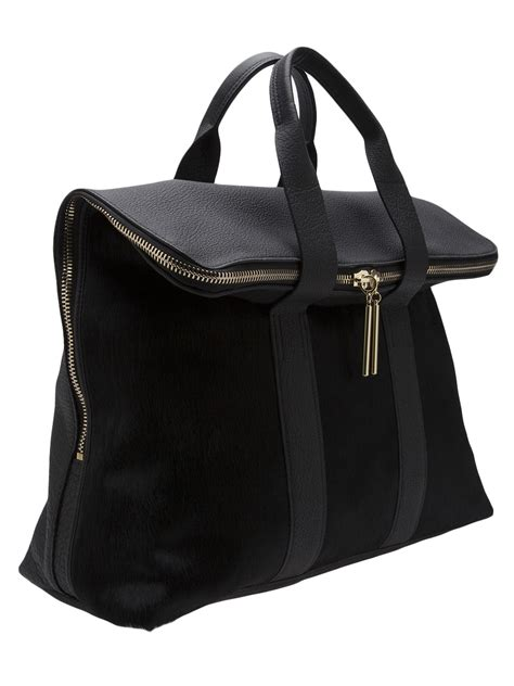 31 Phillip Lim Handbags At New York Fashion Week Aw0708 lyst 3 1 phillip lim 31 hour tote bag in black