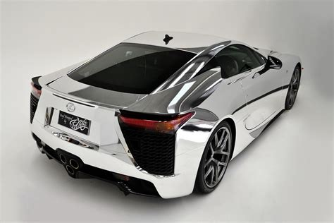 lexus supercar lfa lexus lfa supercar covered in chrome autotribute