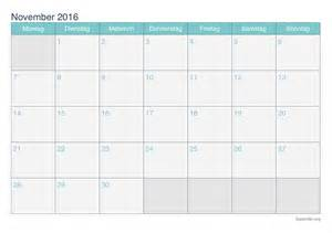 kalender november 2016 zum ausdrucken ikalender org