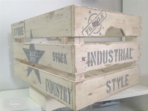 materiales para decorar cajas de madera decorar caja de madera estilo industrial gusbel