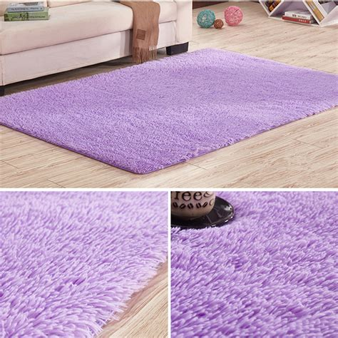 Fluffy Area Rugs Cheap 80cm X 160cm Purple Soft Fluffy Anti Skid Shaggy Area Rug Living Room Home Carpet Floor Mat