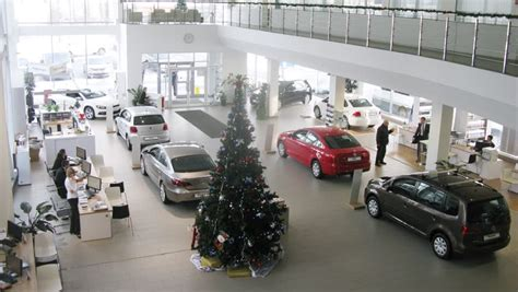 Car Decoration Shop by Tree With Illumination Moving And New
