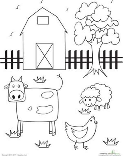 farm animals coloring pages preschool de 25 b 228 sta id 233 erna om the farm bara p 229 pinterest