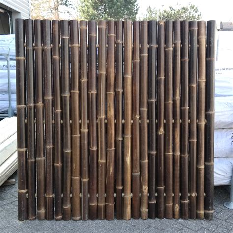 How To Make A Bamboo L by B Grade Black Bamboo Fence Panel 180 X 180 Cm