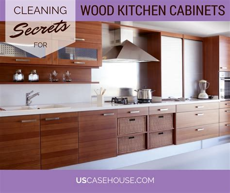 clean kitchen cabinets wood cleaning secrets in a box