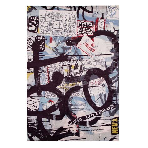 Graffiti Rug by Silk One Of A Mash Up New York City Graffiti Rug For