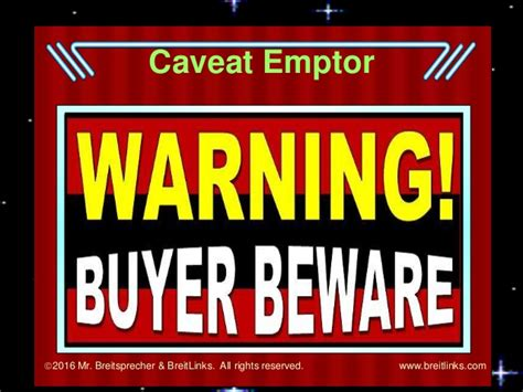 Buyer Beware by What Is The Definition Of Caveat Emptor The Best Cave