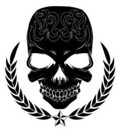 large black skull temporary tattoo 91 sku 20001