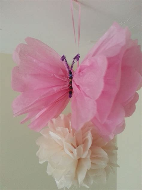 How To Make Tissue Paper Butterflies - wedding decorations tissue paper pom poms butterfly