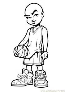 coloring pages basketball coloring page 03 sports