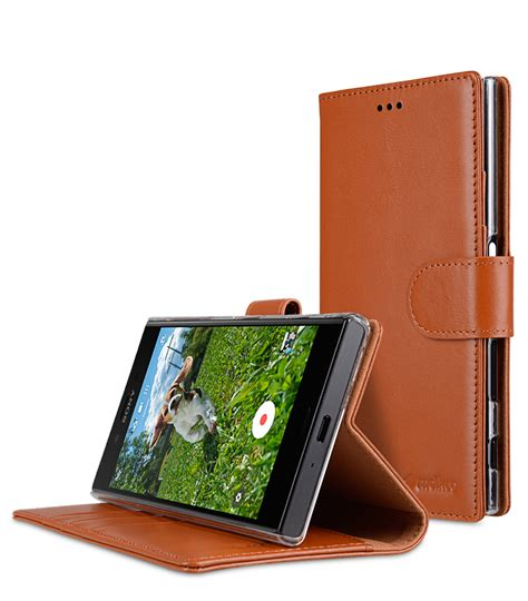 Melkco Premium Leather Wallet With Card Slot Sony Xperia Z sony xperia xz mobile cases cellphone genuine