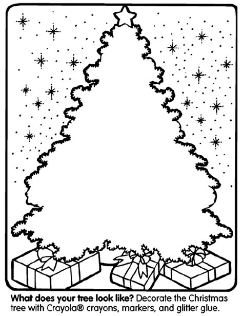 decorate your own christmas tree worksheet tree coloring page crayola