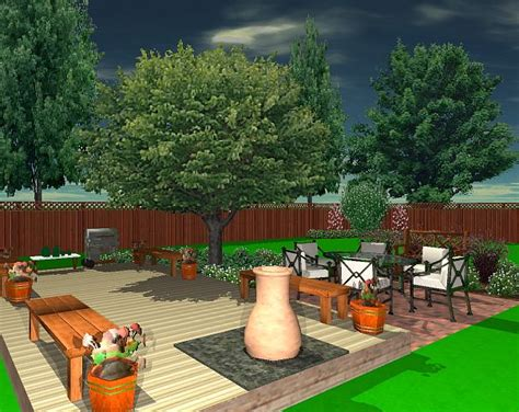 simple easy landscape design  created