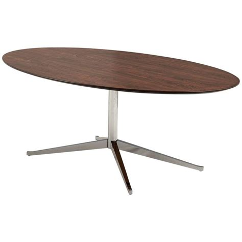 florence knoll oval shaped dining table in rosewood for