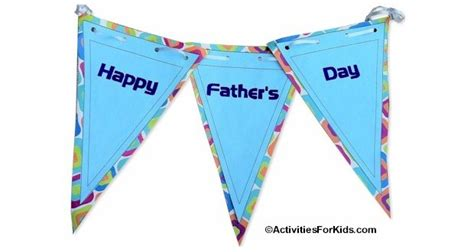 printable children s day banner printable father s day banner activity for kids to