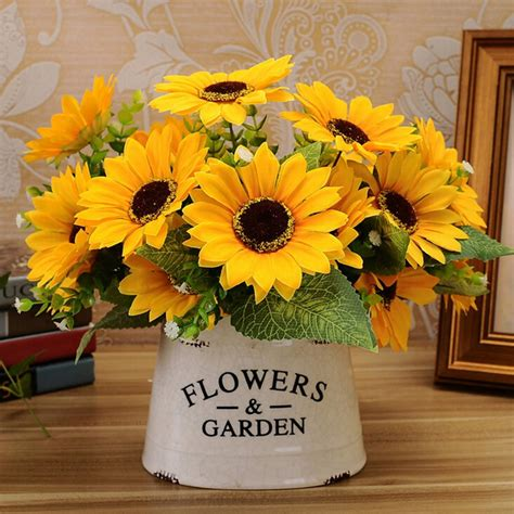 popular sunflower table decorations buy cheap sunflower