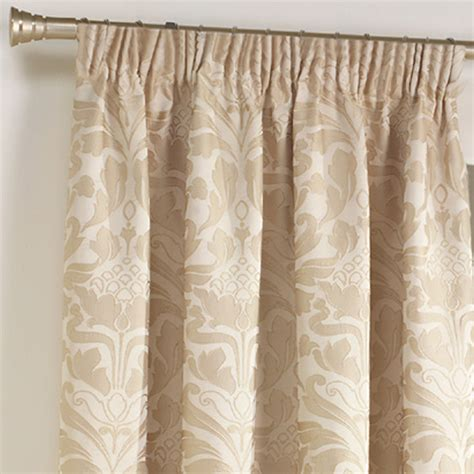 natural damask curtains curtina crompton damask jacquard pencil pleat lined
