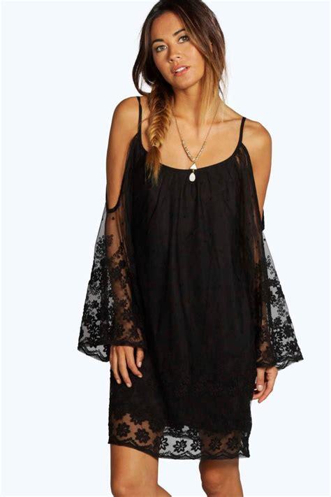Open Shoulder cameron lace open shoulder dress at boohoo