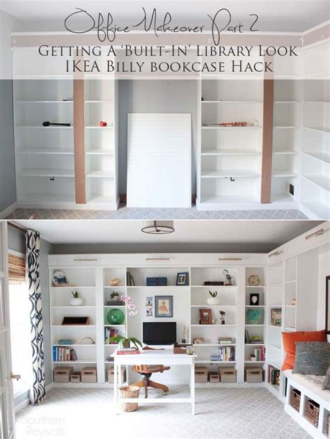 ikea home office hacks 1000 ideas about ikea billy hack on pinterest ikea