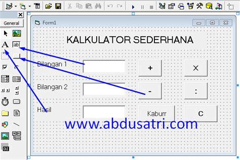 cara membuat query di vb 6 0 cara membuat kalkulator sederhana dengan visual basic 6 0