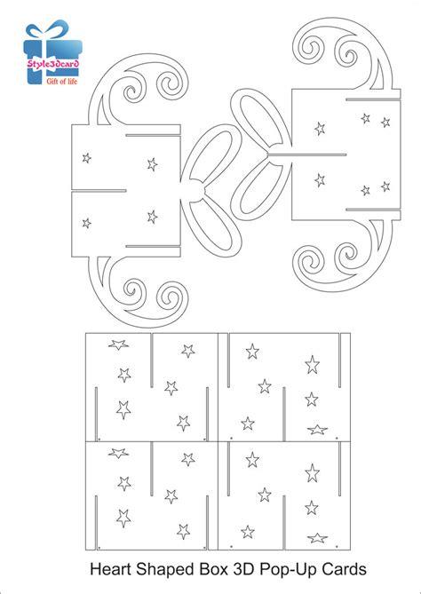 pin up pattern free gift box 3d pop up card kirigami pattern 1 종이접기