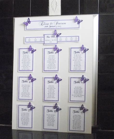 wedding table seating plan personalised a3 a2 wedding seating plan table plan
